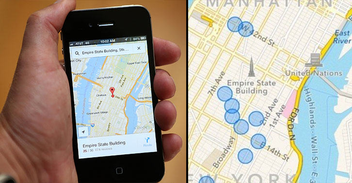 Theres A Hidden Map In Your iPhone Which Keeps Track Of Everywhere Youve Been iphone map FB