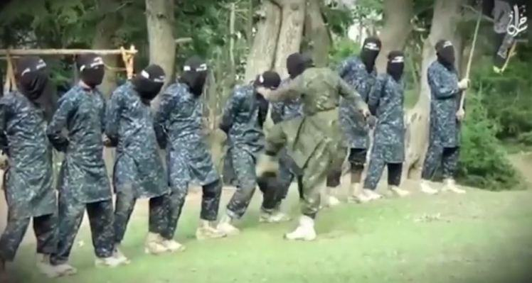 Isis Fighters Get Kicked In The Balls In Bizarre New Training Video isis1