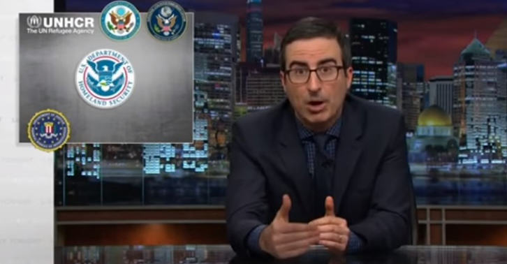 John Oliver Brilliantly Takes Down Hypocrisy Of Syrian Refugee Fearmongering john oliver refugees FB