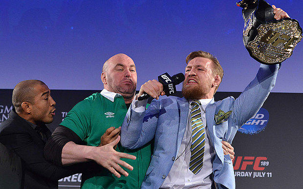 Heres A Supercut Video Of Every Insult Conor McGregor Has Thrown At José Aldo mcgregor aldo belt 1