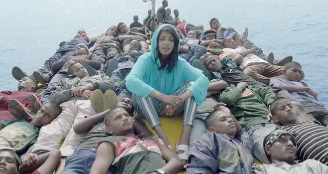 M.I.A Travels With Refugees In Powerful New Music Video Borders mia refugees