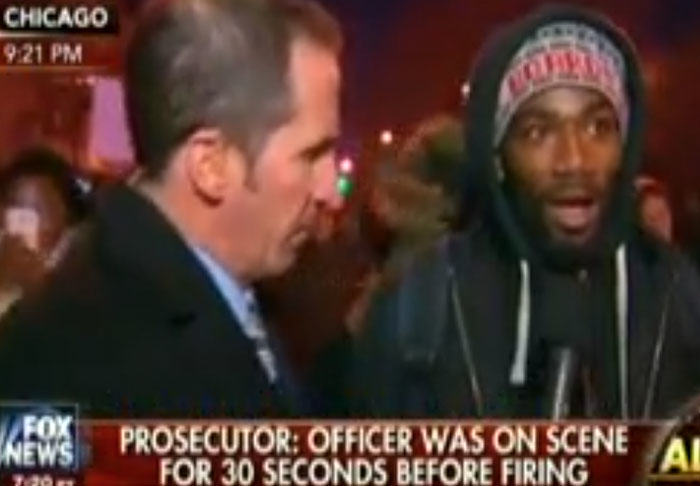 Protester Stumps Fox News With His Answers On Police Shooting protest3