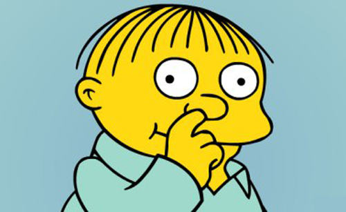 Nine Things That Would Happen During The School Nativity ralph wiggum picking nose