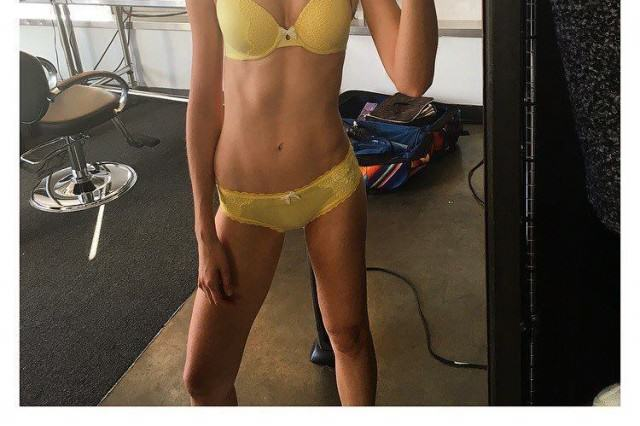 Victorias Secret Model Has Defiant Message For Skinny Shamers skinny 640x426