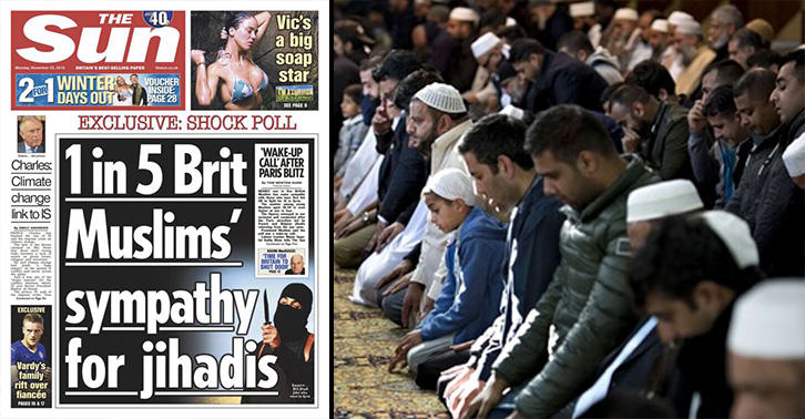 One In Five British Muslims DO NOT Support ISIS, Despite What The Sun Says sun muslims FB