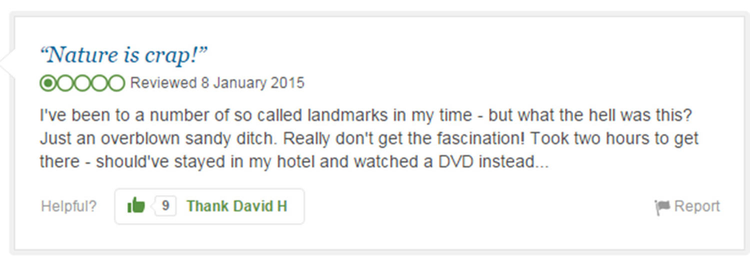 Eight Of The Funniest Trip Advisor Reviews Of Worlds Most Famous Landmarks trip advisor review 1