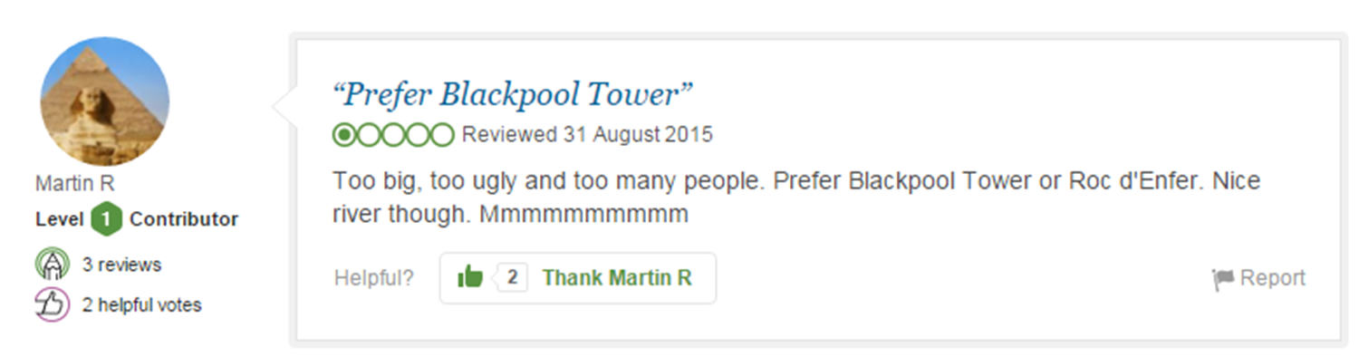 Eight Of The Funniest Trip Advisor Reviews Of Worlds Most Famous Landmarks trip advisor review 3