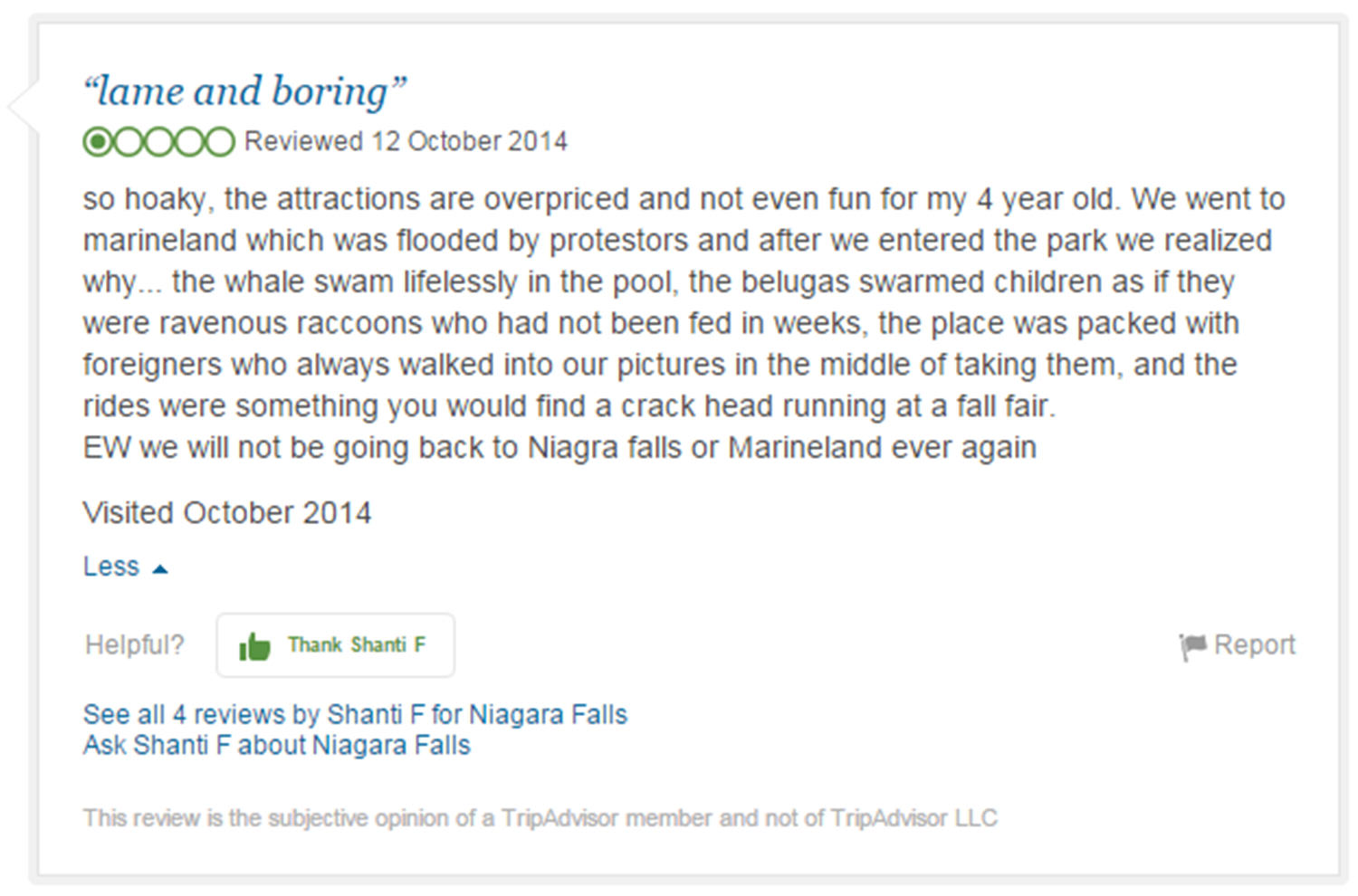 Eight Of The Funniest Trip Advisor Reviews Of Worlds Most Famous Landmarks trip advisor review 4