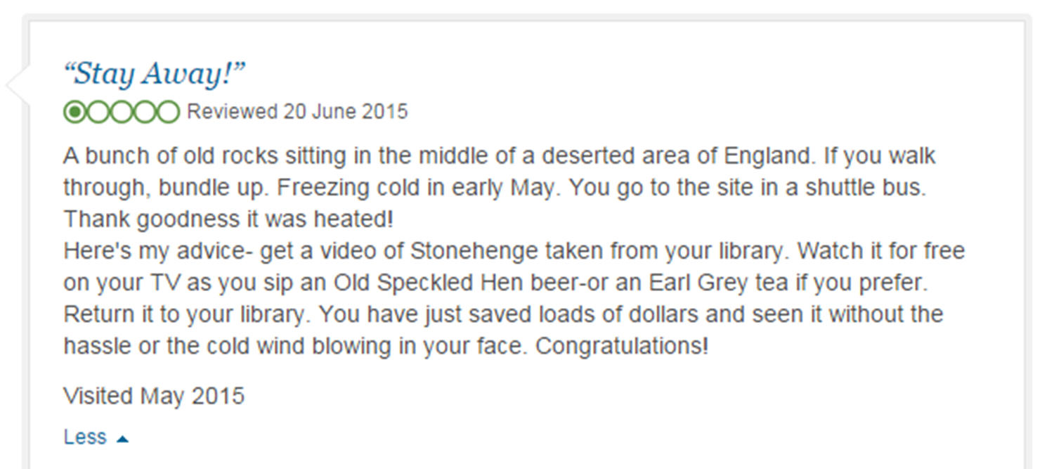 Eight Of The Funniest Trip Advisor Reviews Of Worlds Most Famous Landmarks trip advisor review 5