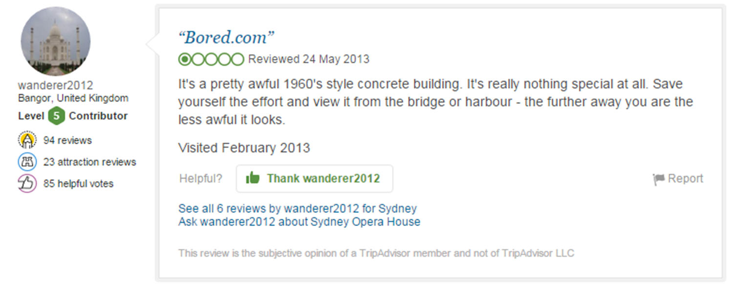 Eight Of The Funniest Trip Advisor Reviews Of Worlds Most Famous Landmarks trip advisor review 8