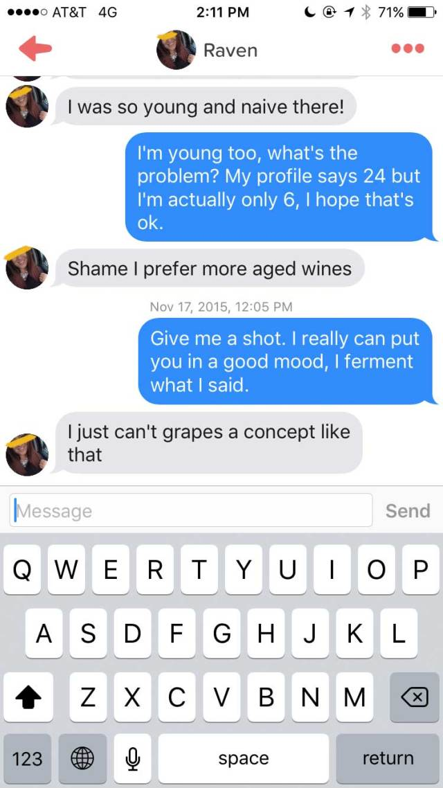 Lad Joins Tinder As A Chatty Glass Of Wine wine4