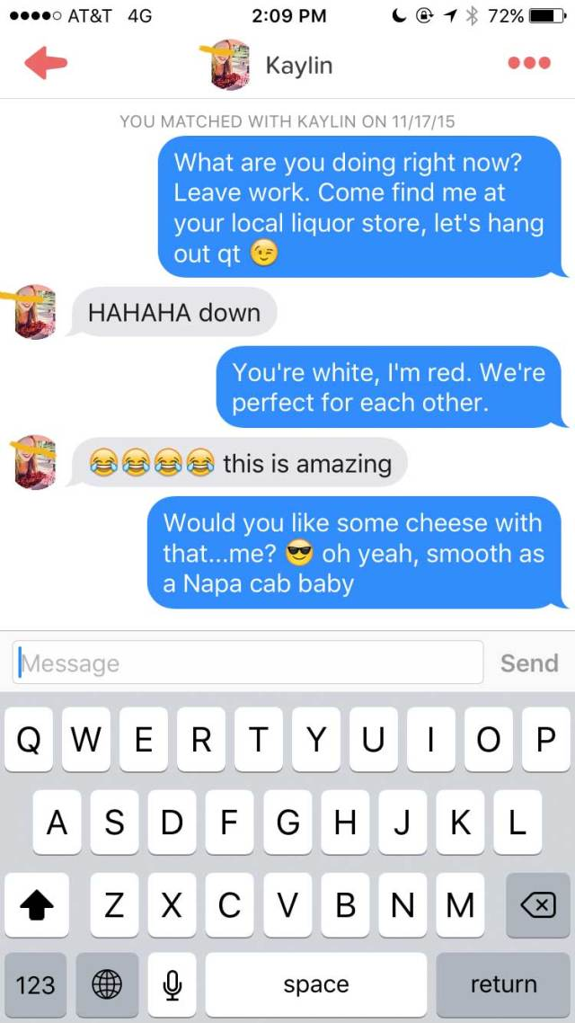 Lad Joins Tinder As A Chatty Glass Of Wine wine5