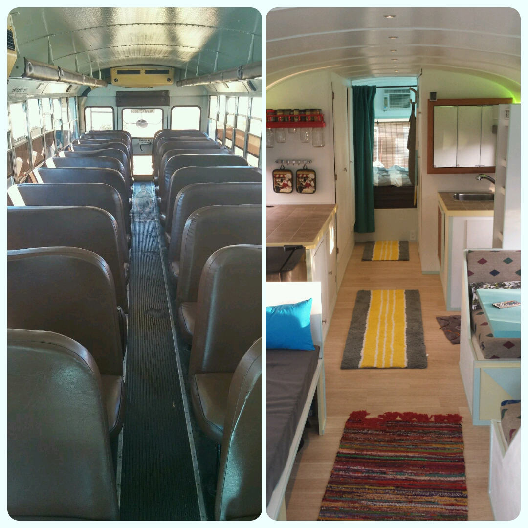 Dad And Son Convert School Bus Into Home And Go On Epic Road Trip 7r1FmQp