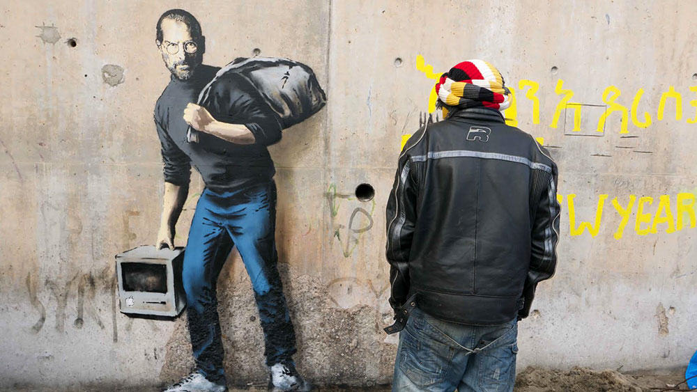 Why Banksy Painted Portrait Of Steve Jobs At Calais Refugee Jungle Banksy 3