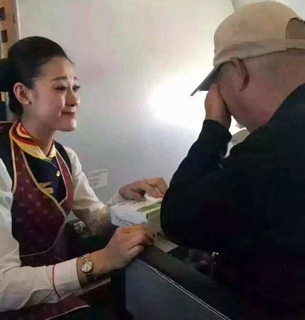 Heartwarming Moment As Air Hostess Act of Kindess Reduces Disabled Man To Tears CEN 2