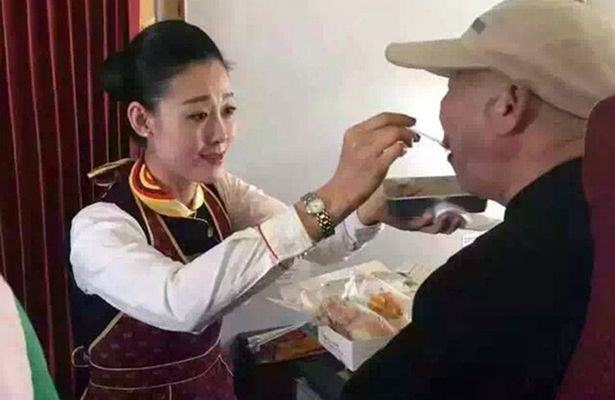 Heartwarming Moment As Air Hostess Act of Kindess Reduces Disabled Man To Tears CEN 3 1
