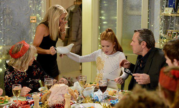 Why Today Is The Shittest Day Of The Christmas Season EastEnders spoilers  Bianca has a Christmas food fight with Terry s ex wife Nikki   first look pics