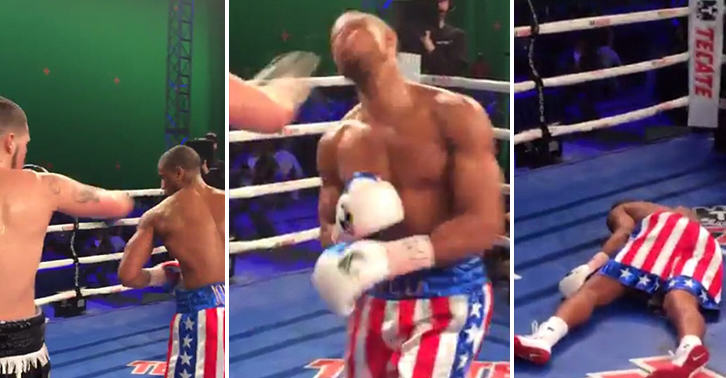 Brutal Footage Shows Actor Michael B Jordan Get KOd During Training For Creed FaceThumb 8