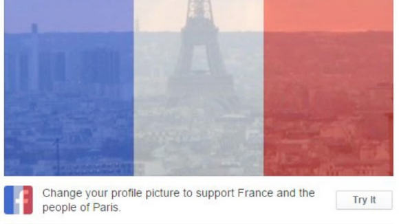 When Social Media Is A Force For Good Facebook profile picture of French Flag shows support pic 2