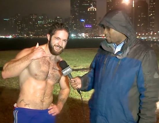 Guy Running In Rain With No Shirt On Breaks The Internet Jogger