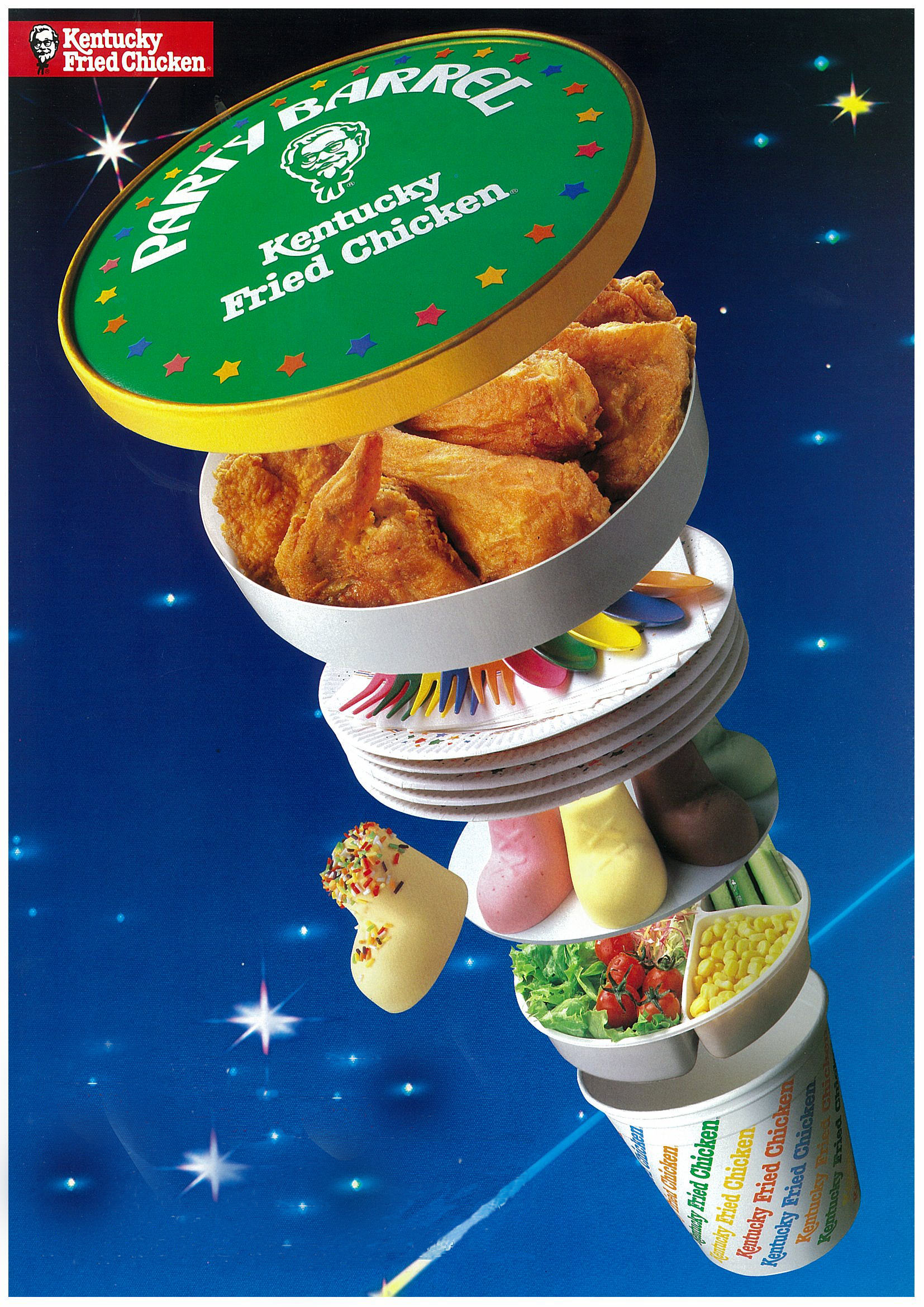 The Traditional Japanese Christmas Dinner Is KFC, Because Why Not? KFC 1987 Party Barrel