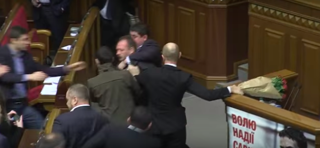 Politician Picks Up Ukrainian Prime Minister By Balls, Sparks Massive Fight In Parliament Screen Shot 2015 12 13 at 13.59.55