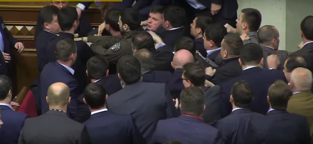 Politician Picks Up Ukrainian Prime Minister By Balls, Sparks Massive Fight In Parliament Screen Shot 2015 12 13 at 14.00.14