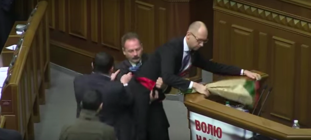 Politician Picks Up Ukrainian Prime Minister By Balls, Sparks Massive Fight In Parliament Screen Shot 2015 12 13 at 14.00.17