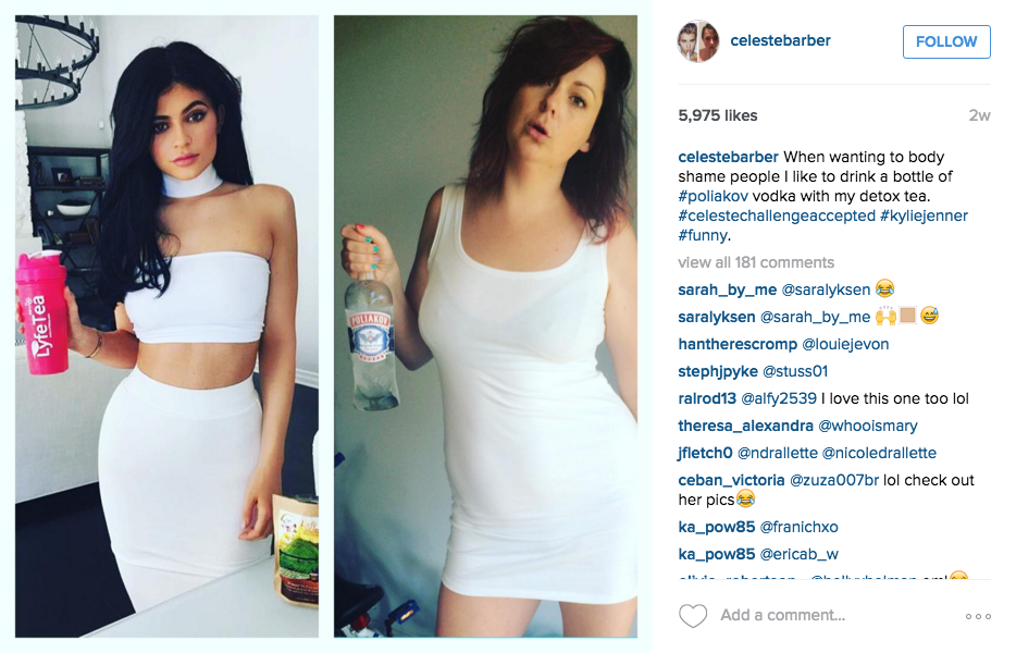 Australian Comedian Back With More Hilarious Instagram Photos Mocking Celebrities Screen Shot 2015 12 14 at 12.11.47