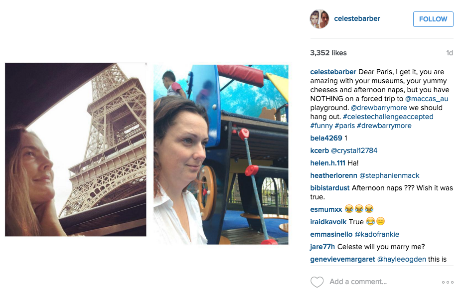 Australian Comedian Back With More Hilarious Instagram Photos Mocking Celebrities Screen Shot 2015 12 14 at 12.23.55