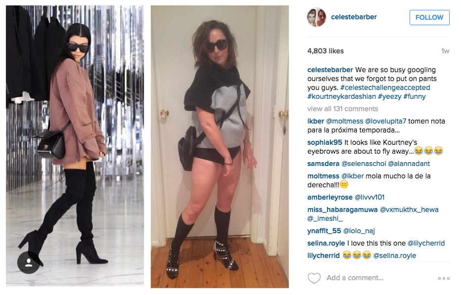 Australian Comedian Back With More Hilarious Instagram Photos Mocking Celebrities Screen Shot 2015 12 14 at 12.24.44