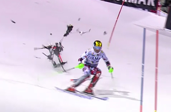 Skiing Champion Cheats Death By Inches As Camera Drone Falls From Sky Screen Shot 2015 12 23 at 15.54.20