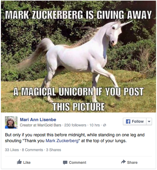 Thousands Of Facebook Users Thought Mark Zuckerberg Was Going To Make Them Rich Screen Shot 2015 12 29 at 11.09.11