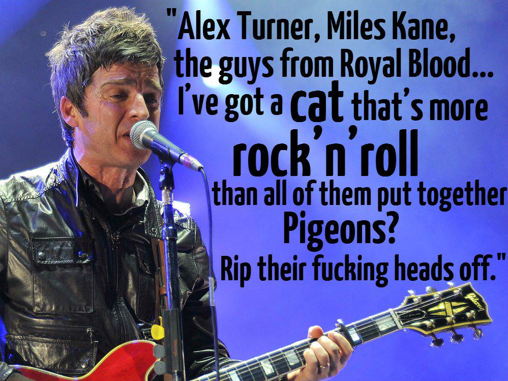 These Brilliant Quotes Prove Noel Gallagher Is The Funniest Rock Star Alive alex turner 1