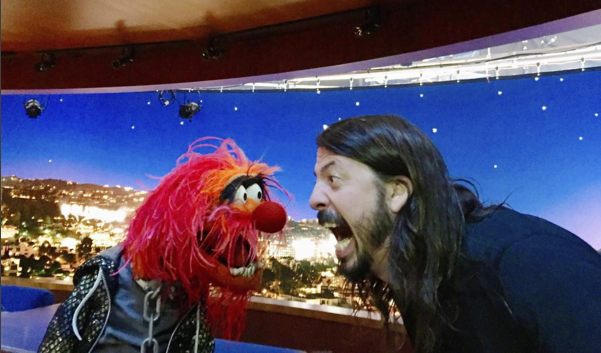 Finally, Dave Grohl And Animal From The Muppets Have A Drum Battle animal grohl
