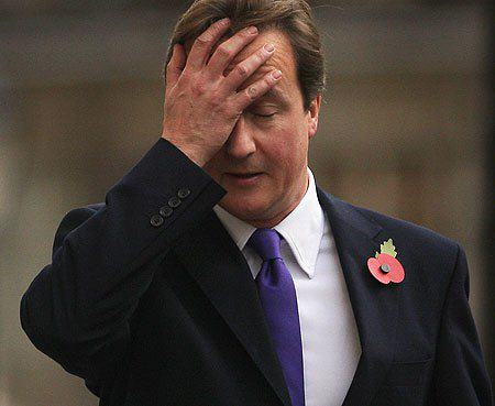 David Cameron Tweets Photo Of Him Watching TV, Internet Reacts Gloriously cameron face palm