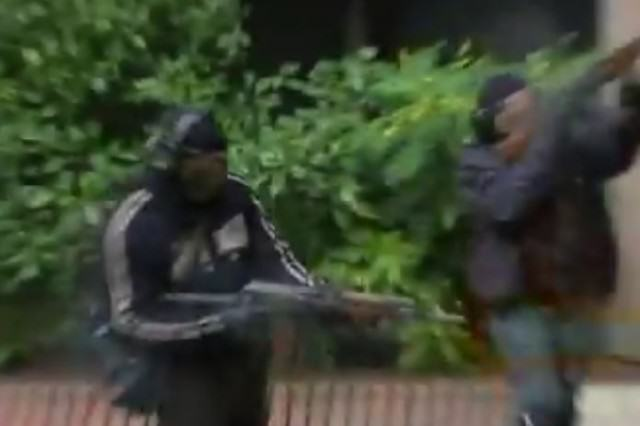 Police Training Video Shows What Paris Style Attack On UK Could Look Like fake gunmen 640x426