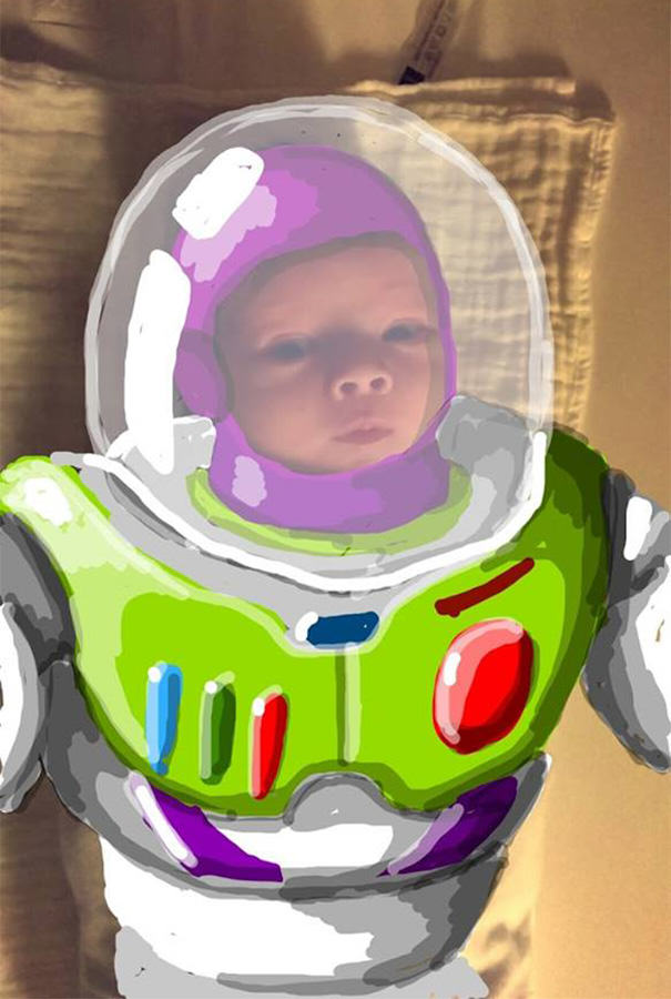 This Dads Snapchat Drawings On His Kid Are Incredible felix9