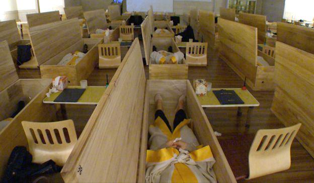 People Are Being Shut Inside Coffins For A Work Bonding Exercise funeral2
