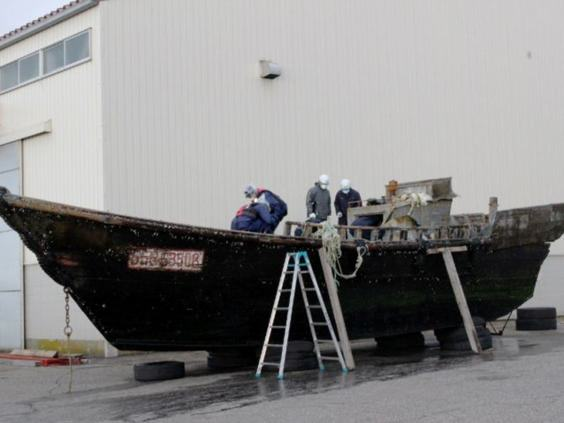 Four Bodies Discovered On North Korean Ghost Ship ghostboat1