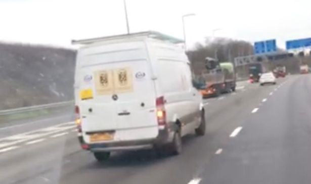 White Van Driver Caught Performing Solo Sex Act On Motorway guy