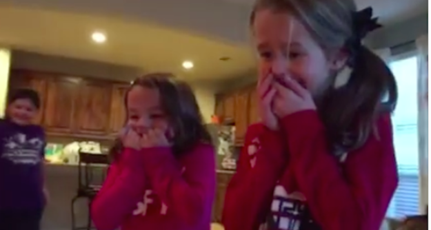 These Sisters Received A Human For Christmas human1