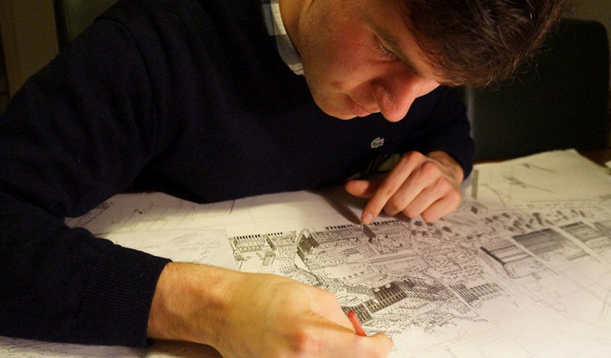 This Guy Draws Famous Cities From Memory And Theyre Unbelievable i draw famous cities from my memory 15  880