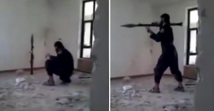 ISIS Fighter Accidentally Blows Himself Up With Rocket Launcher isis grenade FB