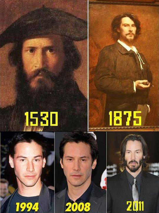 These Pictures Show Putin Isnt The Only Immortal Famous Guy keanu reeves