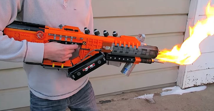 This Guy Built A Working Black Ops 3 Flamethrower From Lego legofacebook