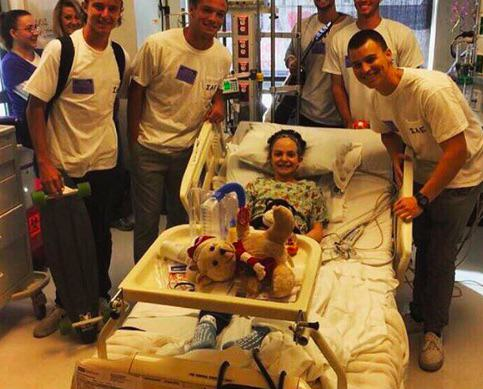 Frat Guys Bring 12 Year Old Cancer Patient Way More Than She Asked For lexi2