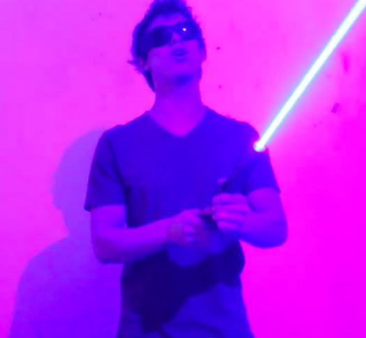 This Guys Awesome Homemade Laser Lightsaber Can Actually Destroy Stuff lightsaber1