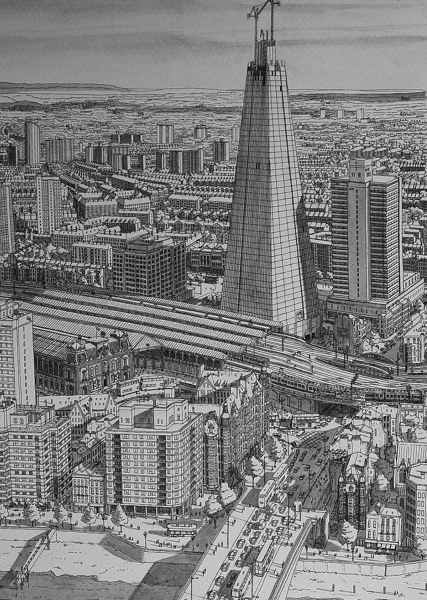 This Guy Draws Famous Cities From Memory And Theyre Unbelievable london 1