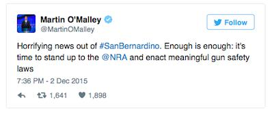 Senator Says Thoughts And Prayers For California Shooting Victims No Good malley
